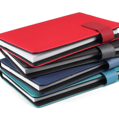 stack of colourful booklets